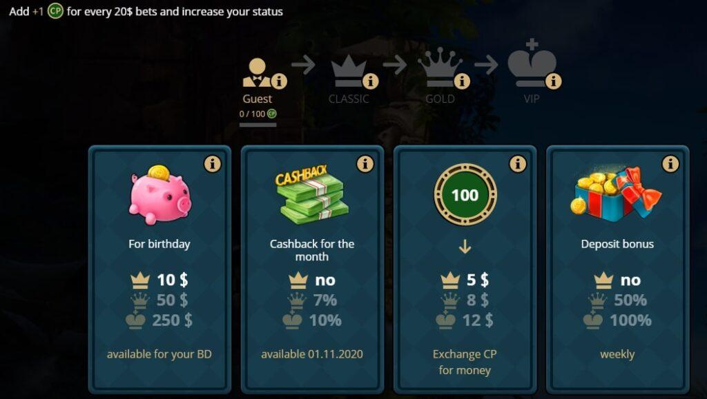 Бонусная программа игрового клуба Риобет