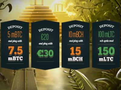 50% бонус каждый понедельник в казино BitStarz!