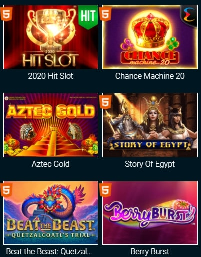 Игровой ассортимент Гоксбет казино